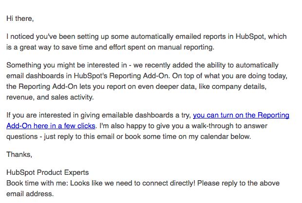 HubSpot SWAT Relationship Email Casey Linehan